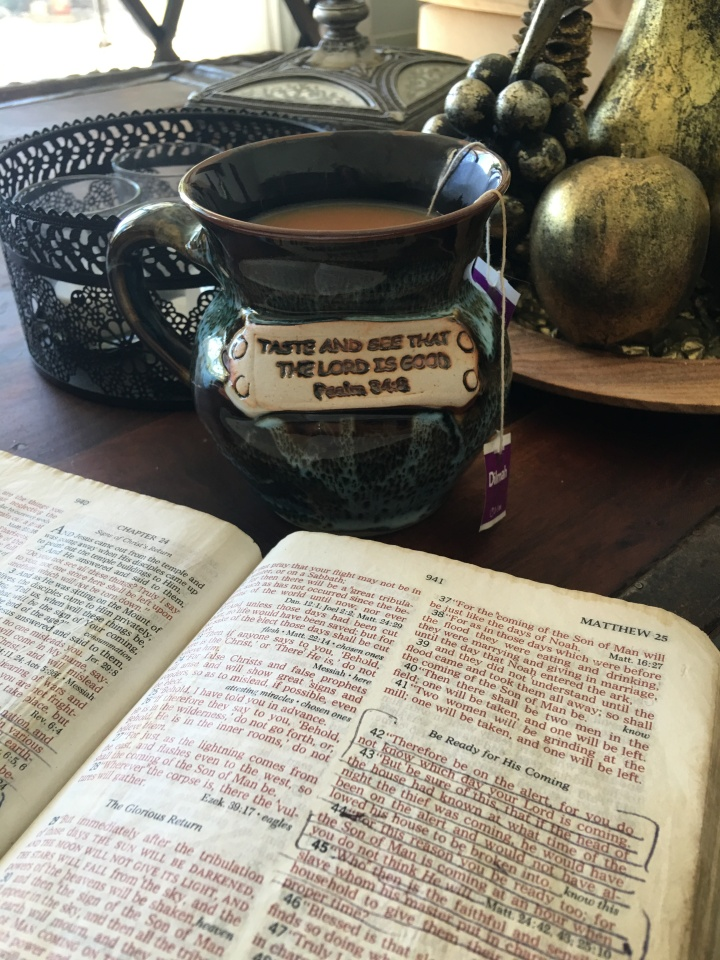 Tea cup and Bible