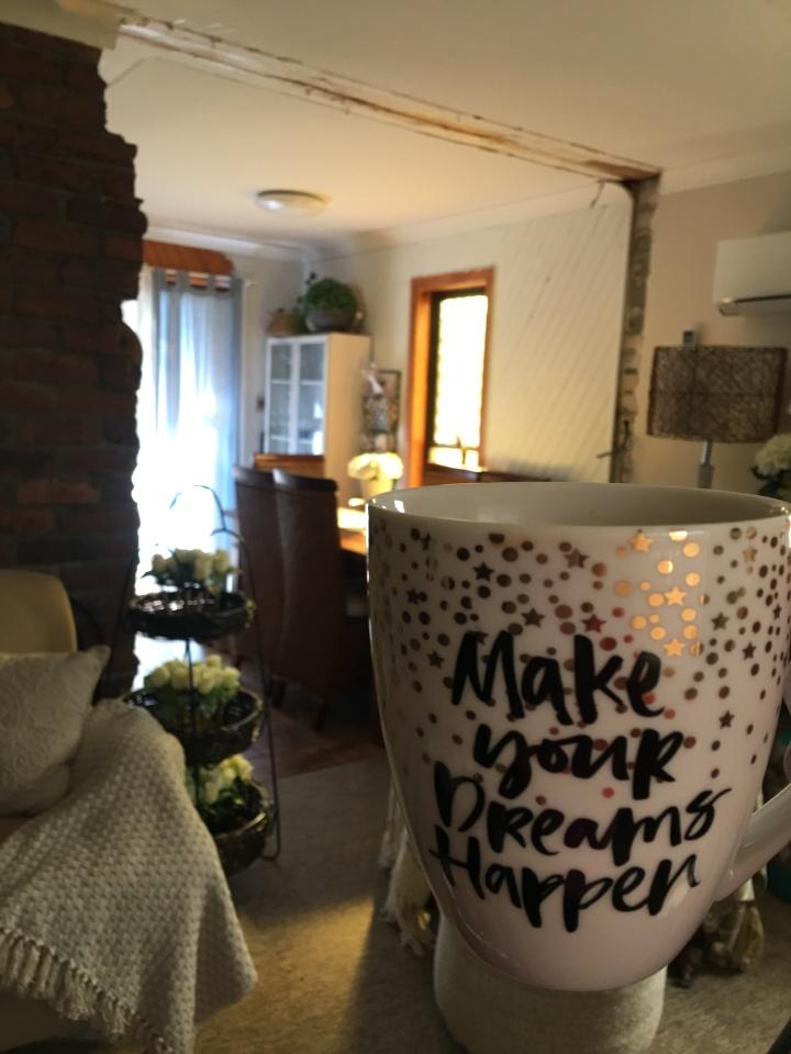 make your dreams happen mug