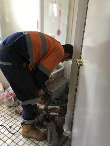 Bathroom brick removal 3