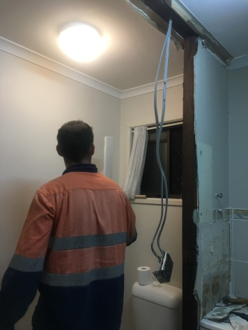 bathroom wall removal 2