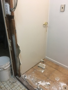 Bathroom wall removal 4
