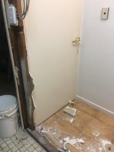 Bathroom wall removal 4